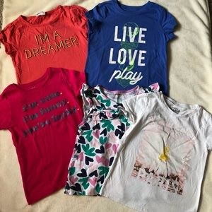 Lot of girls graphic t-shirts